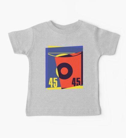 Pop Art 45 Vinyl Record Baby Tee