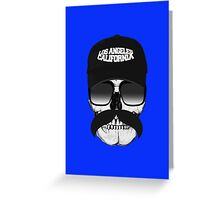 Skull and mustache Greeting Card