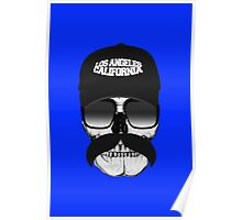 Skull and mustache Poster