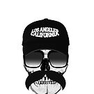 Skull and mustache by WAMTEES