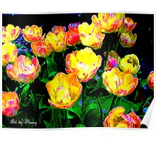Yellow Tulips - Linen Poster