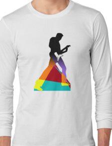Pop Art Guitar Rocker Long Sleeve T-Shirt