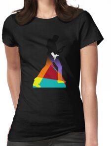 Pop Art Guitar Rocker Womens Fitted T-Shirt