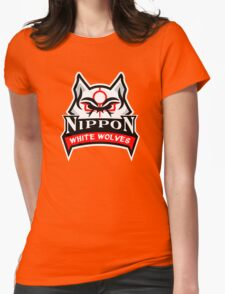 Okami White Wolves Sports Logo Womens Fitted T-Shirt
