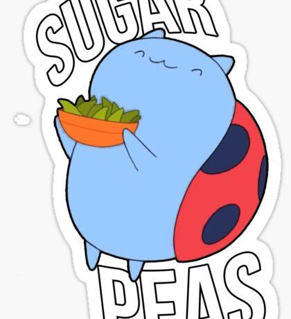 Catbug -- Sugar Peas!! Sticker