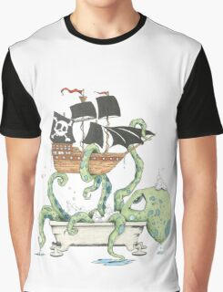 Kraken in the Tub Graphic T-Shirt