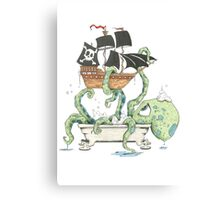 Kraken in the Tub Canvas Print