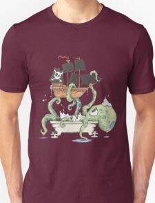 Kraken in the Tub Unisex T-Shirt