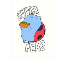 Catbug -- Sugar Peas!! Art Print