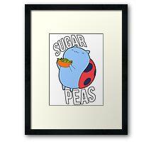 Catbug -- Sugar Peas!! Framed Print