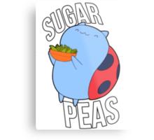 Catbug -- Sugar Peas!! Metal Print
