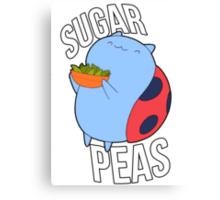 Catbug -- Sugar Peas!! Canvas Print