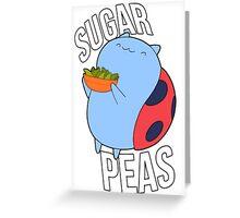 Catbug -- Sugar Peas!! Greeting Card