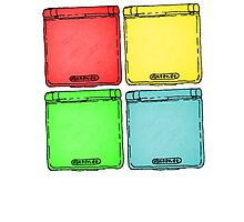 Colored Ink Gameboys Photographic Print