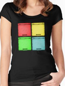 Colored Ink Gameboys Women's Fitted Scoop T-Shirt