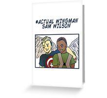 Actual Wingman, Sam Wilson Greeting Card