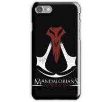 Mandalorian's Creed (black) iPhone Case/Skin