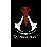 Mandalorian's Creed (black) Photographic Print
