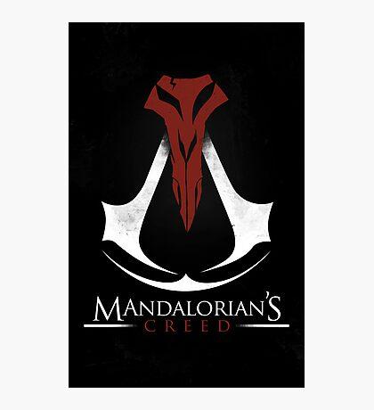Mandalorian's Creed (black) Photographic Print