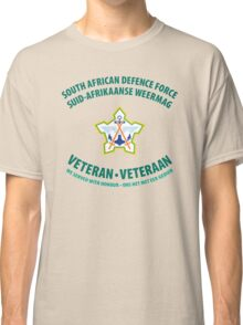 South African Defence Force Veteran (Green Text) Classic T-Shirt
