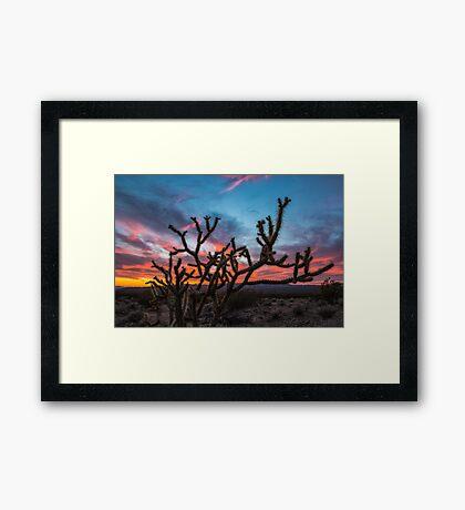 Mojave Desert Sunset Framed Print