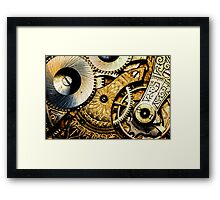 Gears and Age (color version) Framed Print