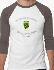 SADF Infantry School (Western Cape Formation Bar) Veteran Men's Baseball ¾ T-Shirt