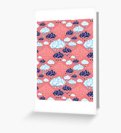 abstract pattern of clouds  Greeting Card