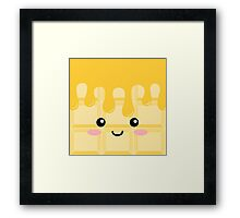 White chocolate Framed Print