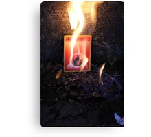 Fire Energy Canvas Print
