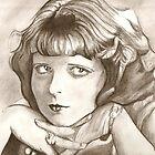Clara Bow drawing by RobCrandall