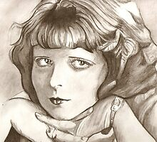 Clara Bow drawing by RobCrandall
