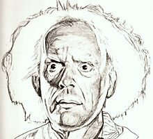 Christopher Lloyd, Doc Brown, drawing by RobCrandall