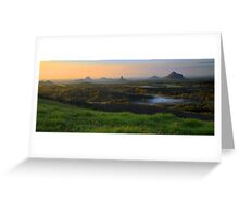 Sunrise Over the Glass House Mountains Greeting Card