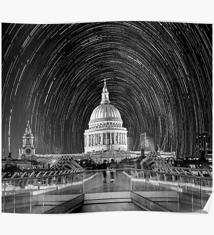 ST. Pauls Cathedral Star Trail Poster