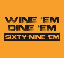 Dumb & Dumber … Wine 'em Dine 'em (Black) by OliveB