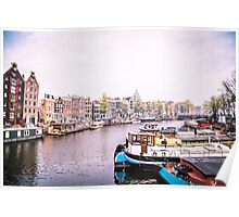 Amstel River Amsterdam  Poster