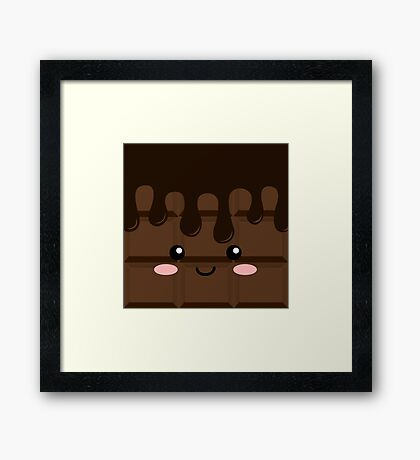 Dark chocolate Framed Print