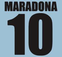 Maradona - soccer player argentina 10 by RobertKShaw