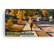 Distant suburbs Canvas Print