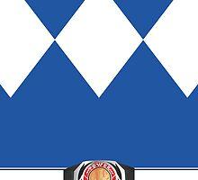 MMPR Blue Ranger Phone Case by Russ Jericho
