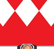 MMPR Red Ranger Phone Case by Russ Jericho