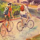 Cycling family by christine purtle