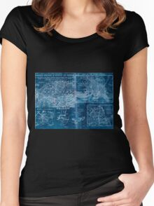 Civil War Maps 1907 War maps and diagrams Inverted Women's Fitted Scoop T-Shirt