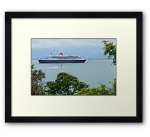 Queen Mary 2 - Visits Darwin Australia Framed Print