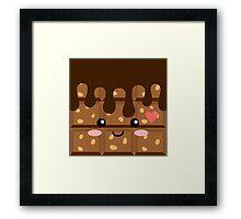 Crunchy chocolate Framed Print