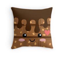 Crunchy chocolate Throw Pillow