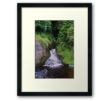 Waterfall in Natural Environment - County Clare Ireland Framed Print