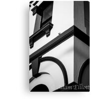 Post Office in B&W Canvas Print