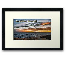 Another sunset Framed Print